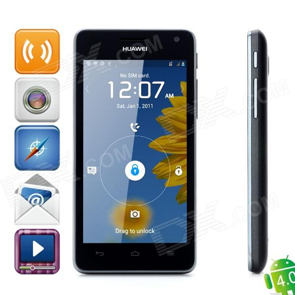 "Huawei U9508 Hi3620 K3V2 Quad-Core Android 4.0 Bar Phone w/ 4.5"" Capacitive and Wi-Fi - Black (8GB)"