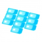 Micro SIM Card to Standard SIM Card Adapter for Iphone 4 / 4S + More - Blue (10 PCS)