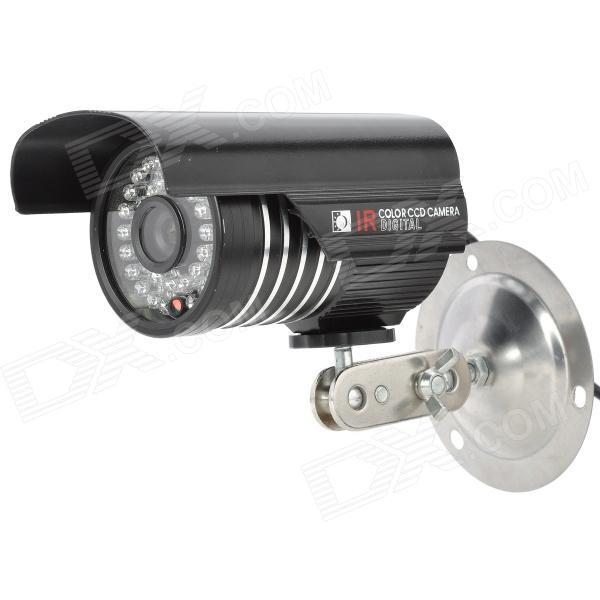 "GP-9916S-HMS 1/3"" CCD Security Surveillance CCTV Camera w/ IR Infrared 36-LED Night Vision - Black"