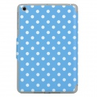 Polka Dot Style Protective PU Leather Case for Ipad MINI - Blue + White