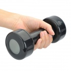 Creative Lazy Dumbbell Alarm Clock w/ Cold Light - Black (2 x AAA)