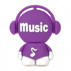 Cute Cartoon Style High-Speed USB 2.0 Flash Drive Disk - Purple + White (4GB)