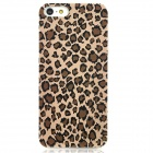 Relief Leopard Style Protective Plastic Back Case for iPhone 5 - Black