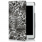 Protective Rotatable Leopard Print PU Case for Ipad MINI - Black