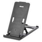 Portable Folding 5-Level Adjustable Stand-Halter für iPhone / iPad / Mobile Phone + More - Schwarz