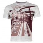 Leisure City Life Short Sleeves T-shirt For Men - Light Gray (XL)