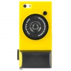 Creative Unique Camera Style Protective Case for Iphone 5 - Yellow + Black