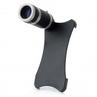 Portable 8X Microscope w/ Back Case for Iphone 5 - Black + White