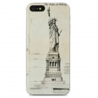 XK-cooku Protective Statue of Liberty Plastic Case for iPhone 5 - Khaki