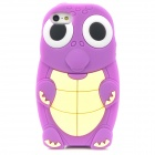 Cute Cartoon Turtle Style Protective Silicone Case for iPhone 5 - Purple + Yellow