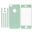 Protective Matte Front + Back + Frame Skin Sticker for iPhone 5 - Green