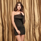 Sophisticated Sexy Curve Mesh + Meryl Cocktail Dress - Black