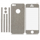 Protective Matte Front + Back + Frame Skin Sticker for Iphone 5 - Silver