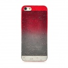 Ultra-Thin Water Drops Style Protective Back Case for iPhone 5 - Red + Transparent White