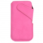Protective PU Leather Pouch Case for Iphone 5 - Deep Pink