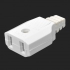 Waterproof Monitor / Outdoor Power 2-Pin Female Plug - White (5 PCS)