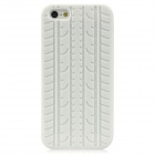 Protective Soft Silicone Tire Grain Back Case Cover for Iphone 5 - White