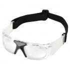 Panlees JH829 Foldable Outdoor Sports Anti-Collision Goggles w/ Flexible Band - White + Black