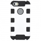 Coole Protective Silicone Case für iPhone 5 - Black + White