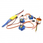 5-in-1 30A Electronic Motor Speed ​​Controller w / 2200LV Motor für Fixed Wing R / C Flugzeuge Set - Blue