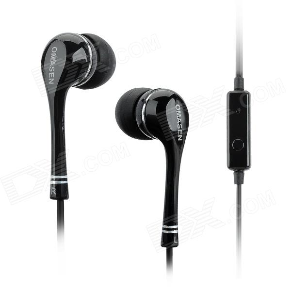 OMASEN OM-98 3.5mm In-Ear Earphones w/ Mic for IPHONE + More - Black