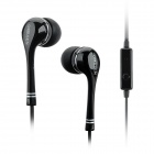 OMASEN OM-98 In-Ear Earphones w/ Mic for Iphone / Samsung + More - Black (3.5mm Plug / 110cm-Cable)