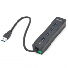 ORICO W8PH4-U3-BK High Speed Mini kannettava 4-porttinen USB 3.0 napa - musta