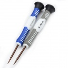 Professional Disassembly Open Screwdrivers Tool for Iphone 4 / 4S / 5 - Blue + White + Grey (2 PCS)
