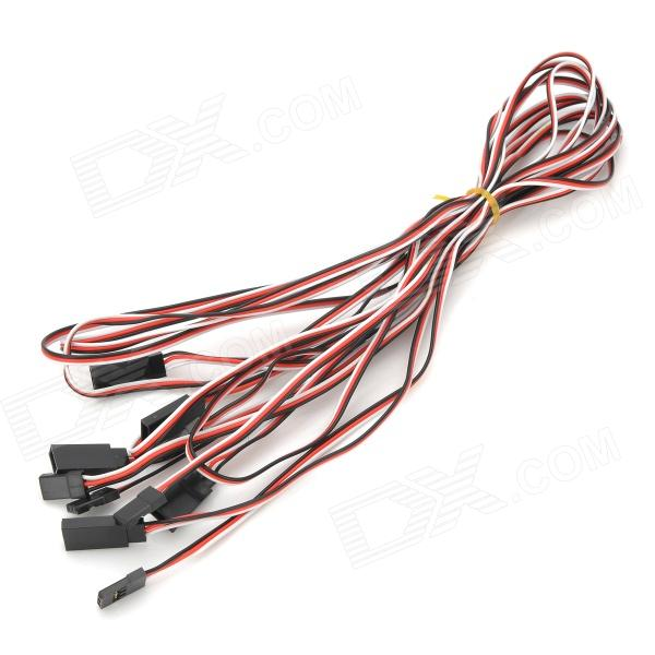 Universal Helicopter Extension Cable for JR / FUTABA - Red + Black + White (5 PCS / 1m)