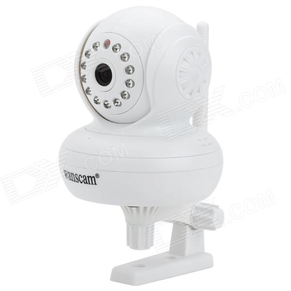 Free DDNS Wanscam JW0004 300KP Indoor Wireless IP Network Camera w/ 13-LED IR Night Vision - White