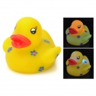 Duck Doll Style Rubber Latex Bath Toy w/ Light Effect for Baby - Yellow + Blue (2 x AG1130)