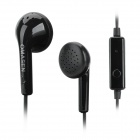 OMASEN OM-88 In-Ear Earphones w/ Mic for Iphone / Samsung + More - Black (3.5mm Plug / 117cm-Cable)