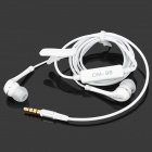 OMASEN OM-98 In-Ear Earphones w/ Mic for Iphone / Samsung + More - White (3.5mm Plug / 125cm-Cable)