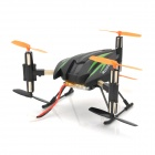 SH-6047A Rechargeable Six Axis 4-CH 2.4GHz Radio Control R/C Aircraft - Green + Black
