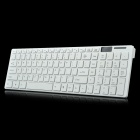 1121 2.4GHz Wireless 102-key Keyboard w/ Protector Film + Mouse Set - White