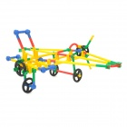 GuangHua 187906 Kid's Creative Imagination Propeller Aircraft Shape Kit - Red + Yellow (89 PCS)
