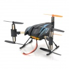 SH-6047A Rechargeable Six Axis 4-CH 2.4GHz Radio Control R/C UFO Aircraft - Blue + Black