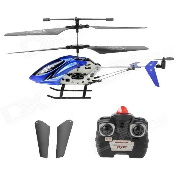 0926105 Rechargeable 2-Channel IR Control R/C Helicopter - Blue