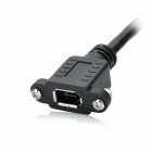 1394 FireWire 4-pin Male to 6-pin Female Adapter Cable - Black (50cm / 15cm)