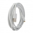 Gold-Plating USB Data / Charging 8-Pin Blitz-Kabel für iPhone 5 - Weiß (300cm)