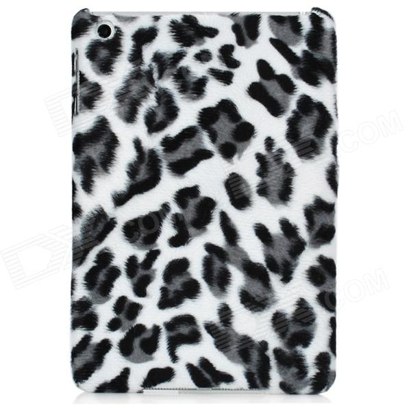 Leopard Pattern Soft Plush Plastic Back Case for Ipad MINI - Grey + White + Black for ipad mini4 cover high quality soft tpu rubber back case for ipad mini 4 silicone back cover semi transparent case shell skin