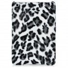 Leopard Pattern Soft Plush Plastic Back Case for Ipad MINI - Grey + White + Black
