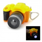 SLR Teleobjektiv LED White Light Keychain w / Sound Effect - Gelb + Schwarz + Orange (3 x AG13)