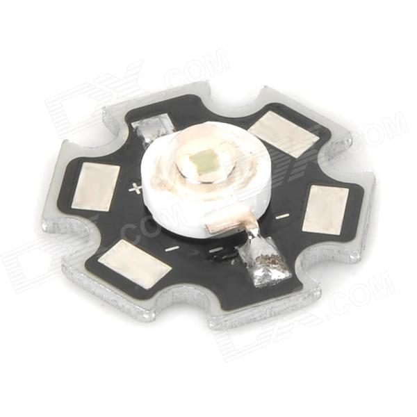 LED de 1W 60lm 490 ~ 560nm Green Light Bulb placa de aluminio para Flashlight - Negro + Plata