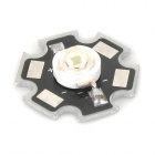 LED 1W 60lm 490~560nm Green Light Bulb Aluminum Plate for Flashlight - Black + Silver