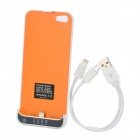 2200mAh Emergency Battery Pack Charger + 2-in-1 USB Charging Cable for iPhone 5 - White