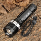 UltraFire A9 Cree XM-L T6 800~950lm 5-Mode White Zooming Flashlight - Black + Silver (1 x 18650)