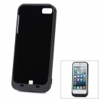 2200mAh Rechargeable External Battery Back Case for iPhone 5 - Black
