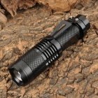 YP-9047A Cree XM-L T6 800~950lm 5-Mode White Zooming Flashlight - Black (1 x 18650)