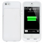 External 2200mAh Battery Matte Back Case for iPhone 5 - White